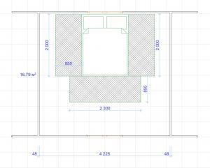 План теплых полов Хотпанел мансардный этаж