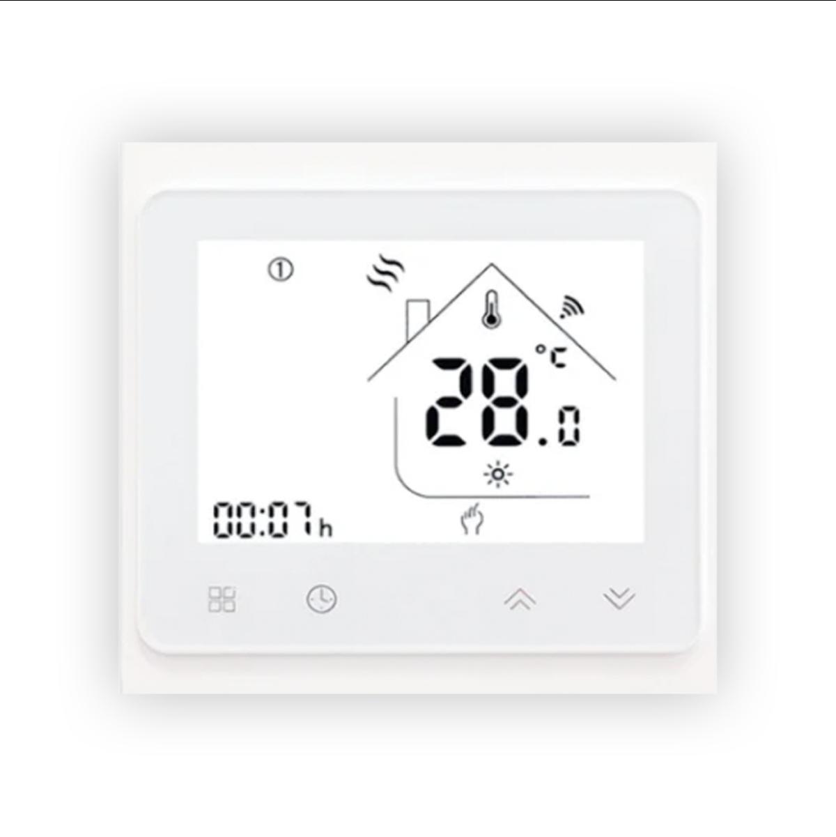 Терморегулятор RS-001 сенсорный с WI-FI Белый