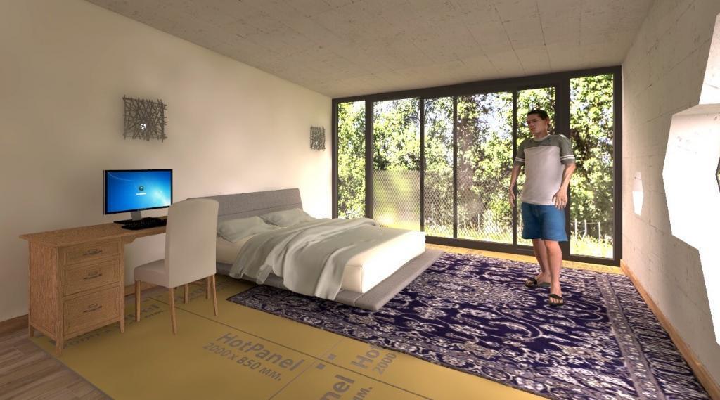Теплый пол под ковер из электрических панелей Хотпанел