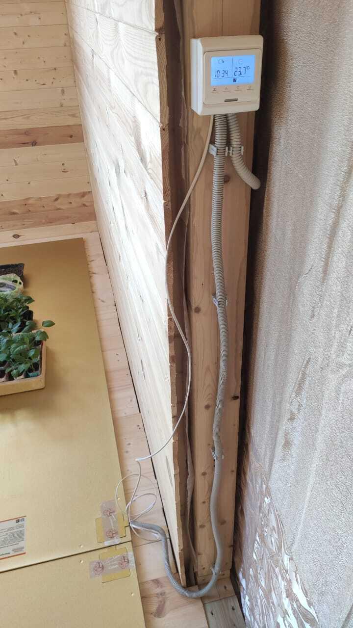 Отопления дома из бруса 150 мм. электрическими панелями Хотпанел