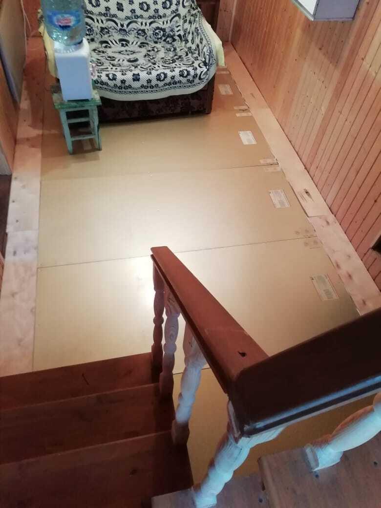 Теплый пол Хотпанел в качестве основного отопления в деревянном доме г. Уфа
